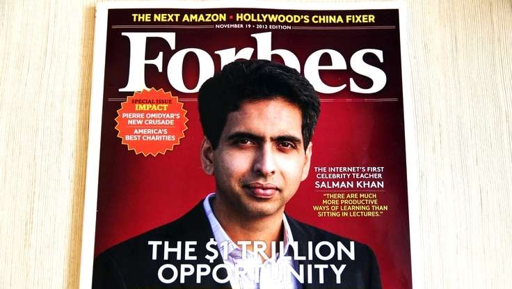 A 1,000% Return: Education Speaker Salman Khan On The Cover of <em>Forbes</em>